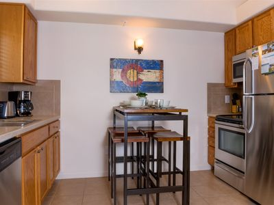 Photo for Two bedroom, two bathroom riverside condo with fully equipped kitchen. sofa sleeper and gas fireplac