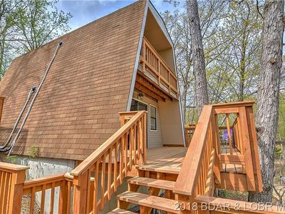 Photo for Adorable 2 bedroom 1 bath Lake front A-Frame House