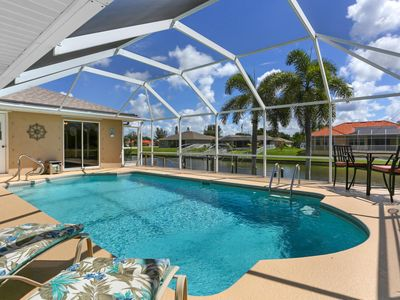 Photo for Beautiful pool villa in the heart of SW Cape Coral. Sun ALL day! Waterfront!