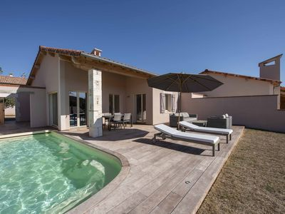 Photo for 2 Bedroom luxury new villa with heated pool on chateau estate