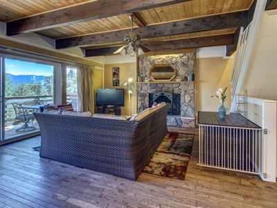 Photo for Spacious, updated lodge just a short walk from Big Bear Lake!