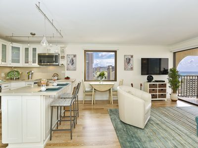 Photo for REMODELED Corner Unit with Ocean Views, 1 Free Parking, WiFi, Washer/Dryer!