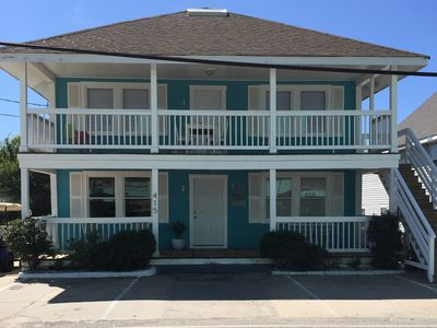 Photo for This second floor unit/second row home sits just across the street from a beach
