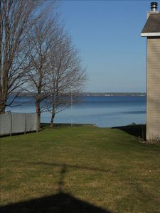 View from the cottage patio, note the one adjacent cottage sharing the shore.