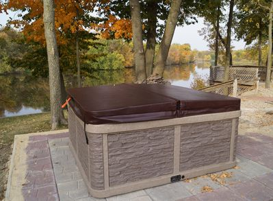 Imagine a cool fall evening with your special someone in your private hot tub