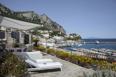 Villa Sagittario Terrace  Amazing view of the port and in the isle  of Ischia
