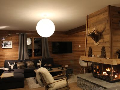 Photo for Chalet for 12 people maximum, 4 bedrooms, 165 m2 + ski room & garage