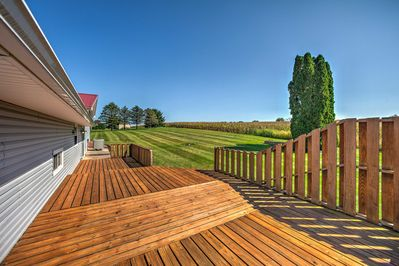 Take in the gorgeous views from this expansive back patio.