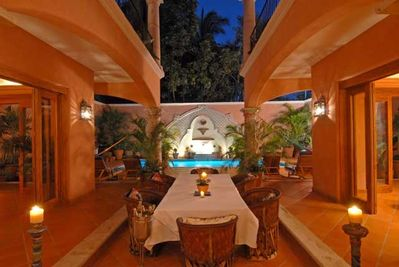 Dining with View of Fountain By Night