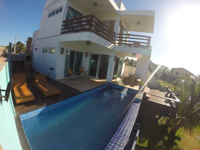 Photo for House 3 suites, Deck, Barbecue, Swimming pool, Jacuzzi and Sea View at 200m from the beach