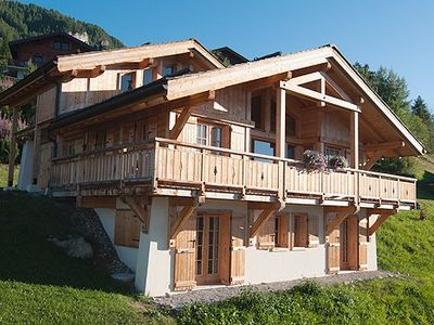 Photo for Ski-in Ski-out Comfortable Chalet With Beautiful Views, Sauna and Home Cinema