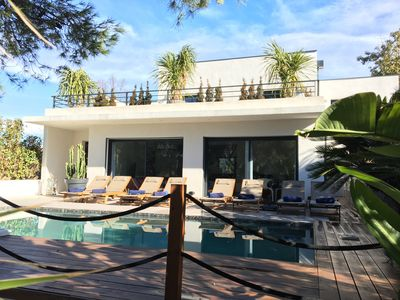 Photo for Beautiful Villa 4 * 5 minutes walk from beaches, restaurants, shops, pool, spa