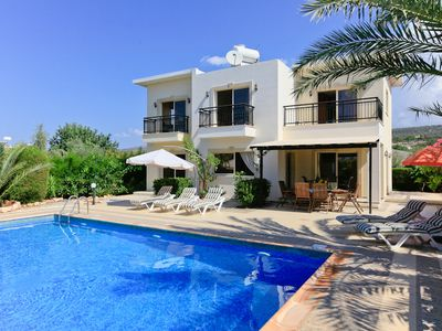 Photo for Villa Mayia: Large Private Pool, Walk to Beach, Sea Views, A/C, WiFi
