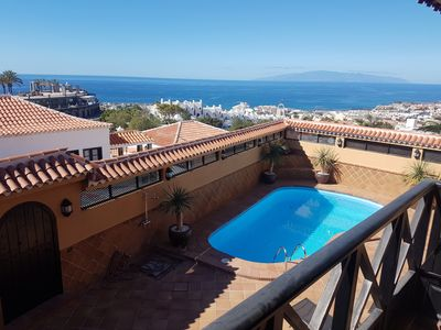 Photo for Villa Madera with private heated pool, sea view, terrace, BBQ, Wifi, 2 kitchen