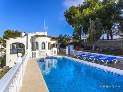 Photo for ANDROMEDA - Villa for 6 people on the coast of Benissa, 1,5 km away from the beach of La Fustera