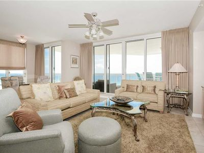 Photo for Four-bedroom beachfront end unit w/extra-large balcony!
