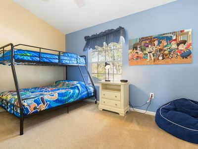 Photo for A 3 bed/3 bath townhouse with a south facing pool and Toystory Kid's room