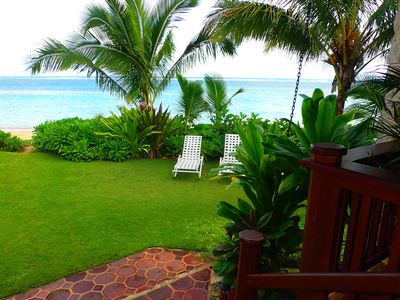 Photo for Classic Casual Beachfront Hale **** 20 ft to the White Sand of ANINI BEACH!