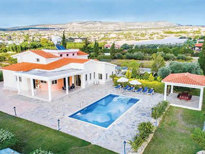 Photo for Secluded villa in a large garden w/ mountain views, pool + games room