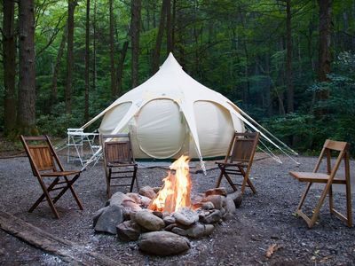 Photo for Glamping in Style at Coadys' Point of View Lake Resort
