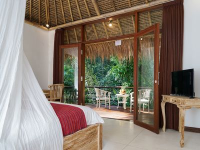 Photo for Brand new tradtional Tropical Villa room in amazing Bali traditional area