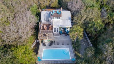 Photo for Private Pool & Multi-Level Decks w/Roof Top Deck! Beach Access Across Street