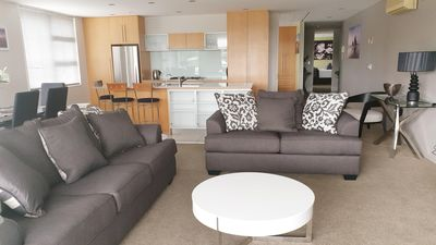 Photo for Lakefront Apartment - Heated Swimming Pool, Hot-Tub, Gym & Sauna