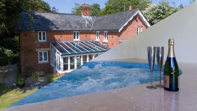 Photo for Cottage With Indoor Swim Spa in New Forest National Park for families or couples