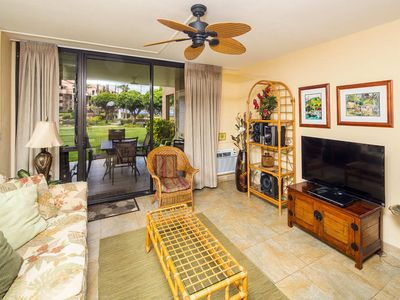 Photo for Homey Condo Comfort! Large Lanai to Lawn, Updated Kitchen, WiFi–Kamaole Sands 1105