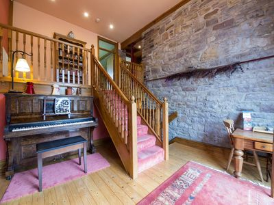 Piano welcomes you into this grand entrance