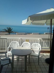 Photo for SCOGLITTI: OPEN SEA VIEW 20 MT FROM THE SEA AIR-CONDITIONED