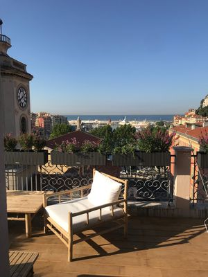 Photo for Magical roof top, One bedroom apartment, Nice Port