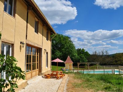 Photo for ***** Rose Barn *****  Dordogne. Child Friendly Holidays. Heated Pool. Gite.