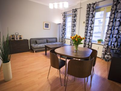 Photo for Jadwiga of Angevin apartment in Nowe Miasto with WiFi & air conditioning.