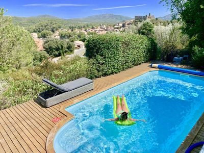 Photo for Wonderful and comfortable villa in Durban Corbieres, Languedoc-Roussillon, France  with heated pool for 8 persons