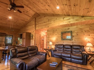 Photo for A Happy Roost - Rustic cabin near Boone with hot tub, gas fireplace