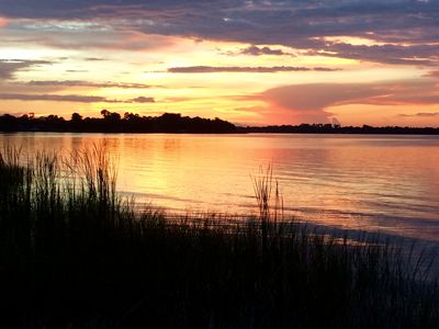 Sunset on Lake Dora from private dock or cruising on your own or rented boat
