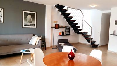 Photo for Design - penthouse, 60 mts from the beach