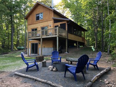 Photo for ★Peaceful, New Cabin on a Secluded Lake!  Cozy cabin for a relaxing Getaway★