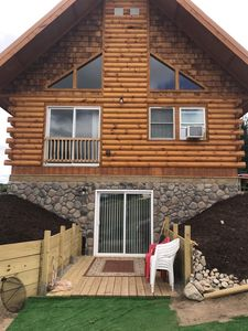 Photo for JUST AVAILABLE !Brand New Log Cabin 3 miles from West bay Traverse City Beach.
