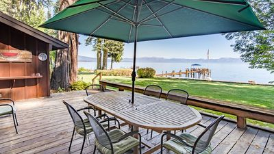Photo for Lakefront Historic Cabin & Guest House.  Sleeps 10 and includes Pier and Buoy