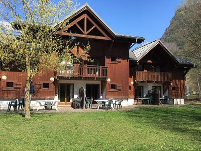 Photo for Samoens Village Location, close lifts, sleeps 8  occasional 10,  pools,
