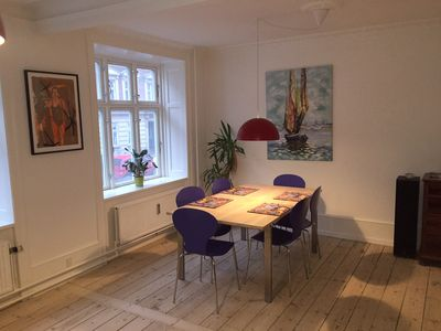 There is also a nice large dinner table at the other end of the Living room.