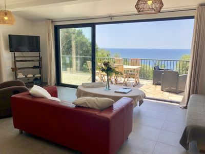 Photo for Villa 7 pers -View sea on 180 ° - Sea access to 600M