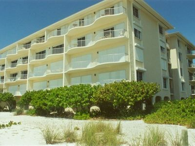 Beach Front View of Hickory Shores Condominium on Bonita Beach