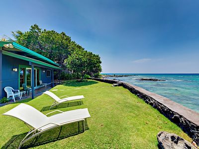 Photo for Hawaiian Oceanfront Retreat - 2 Cottages w/ Big Pacific Views & Tropical Yard