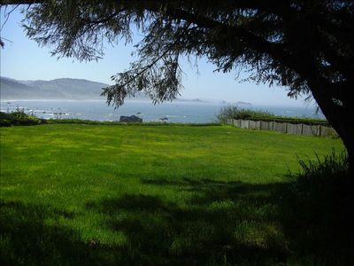 Enjoy the large lawns with ocean views, just steps away.