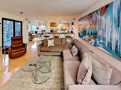 Photo for 2BR, 2BA Modern & Mountain-View Vail Valley Condo – Near Village & Trails