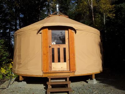 Photo for Cozy yurt in the woods near Homer