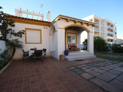 Photo for A beautiful house 50 meters from the sandy beach in Oliva